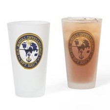 Spy Navy Drinking Glass