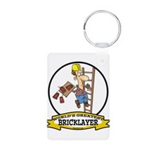WORLDS GREATEST BRICKLAYER Keychains