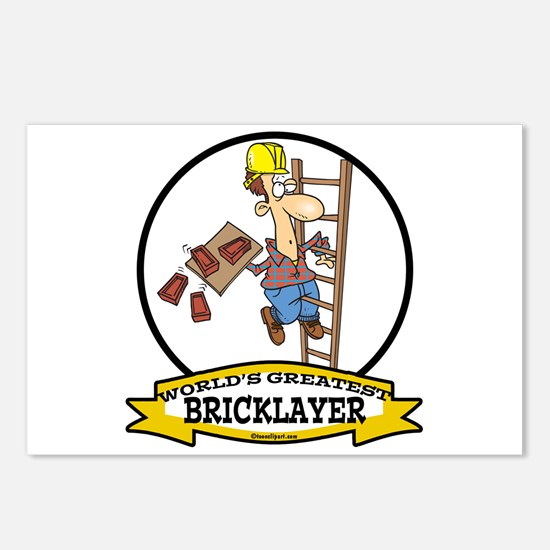 WORLDS GREATEST BRICKLAYER Postcards (Package of 8