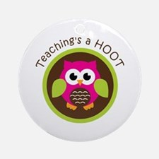 Teaching's a Hoot Ornament (Round)