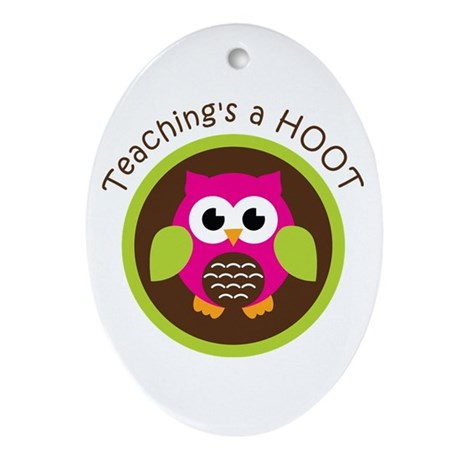 Teaching's a Hoot Ornament (Oval)