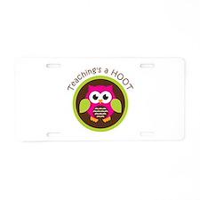 Teaching's a Hoot Aluminum License Plate