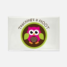 Teaching's a Hoot Rectangle Magnet