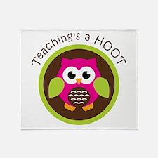 Teaching's a Hoot Throw Blanket