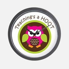 Teaching's a Hoot Wall Clock