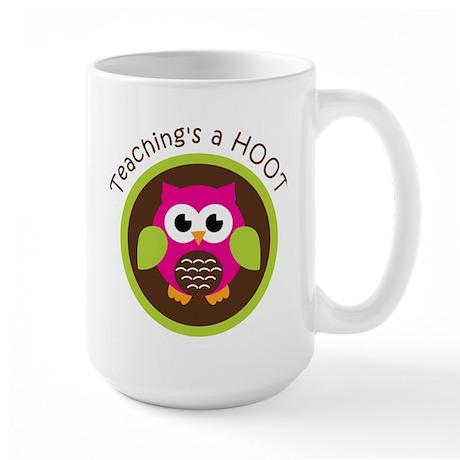 Teaching's a Hoot Large Mug