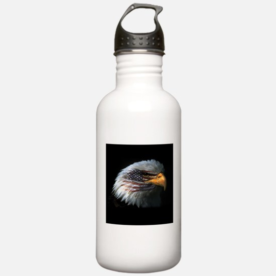 American Flag Eagle Water Bottle
