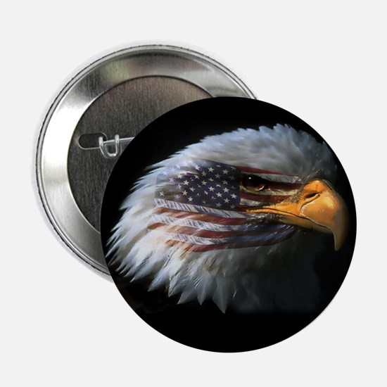 American Flag Eagle Button