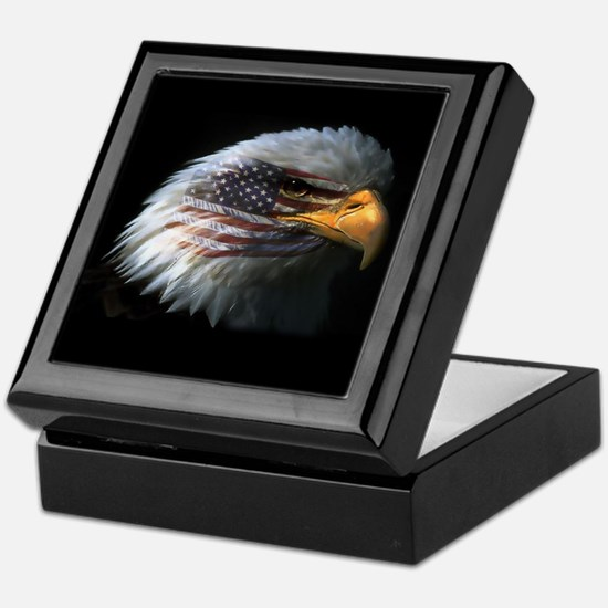 American Flag Eagle Keepsake Box
