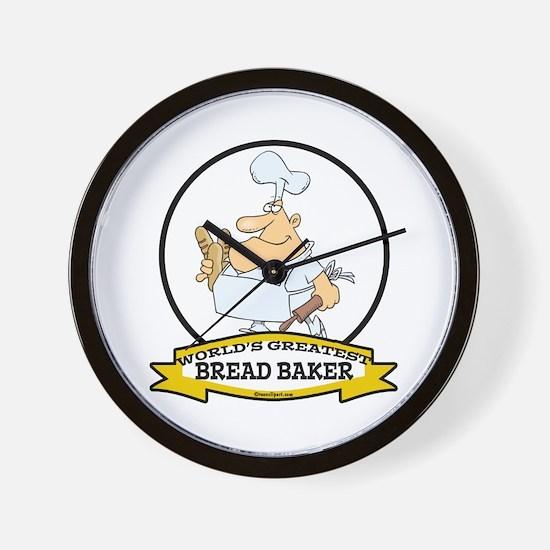 WORLDS GREATEST BREAD BAKER MAN Wall Clock
