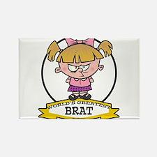 WORLDS GREATEST BRAT GIRL Rectangle Magnet