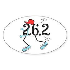 Funny Marathoner 26.2 Decal