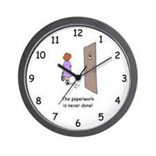 Paperwork Never Done Wall Clock