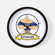 WORLDS GREATEST BOUNCER Wall Clock