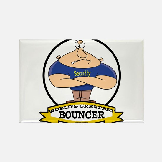 WORLDS GREATEST BOUNCER Rectangle Magnet