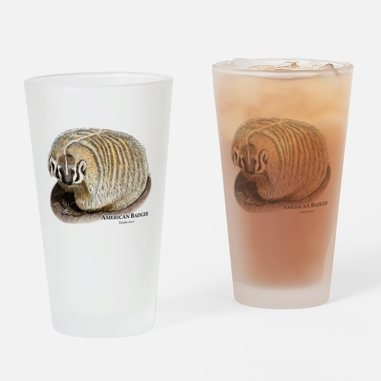 American Badger Drinking Glass
