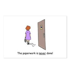 Paperwork Never Done Postcards (Package of 8)