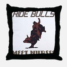 Meet Nurses Throw Pillow