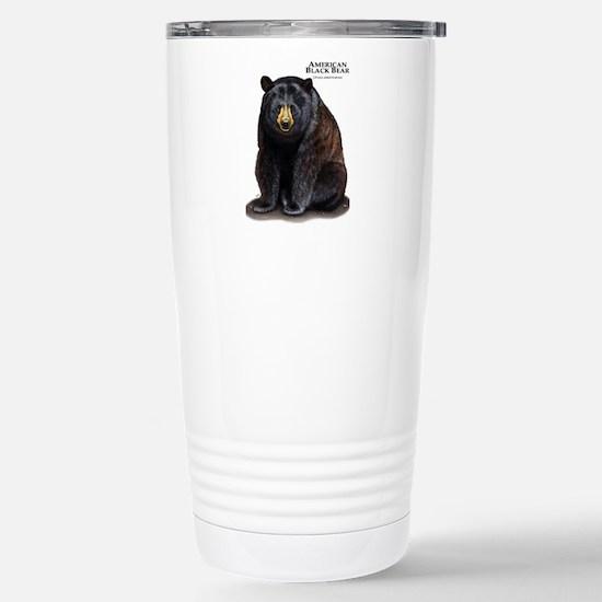 American Black Bear Stainless Steel Travel Mug
