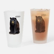 American Black Bear Drinking Glass
