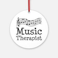 Music Therapist Ornament (Round)