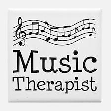 Music Therapist Tile Coaster