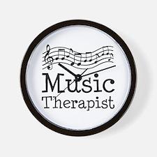 Music Therapist Wall Clock