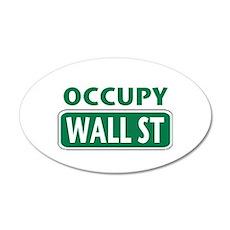 Occupy Wall Street 22x14 Oval Wall Peel