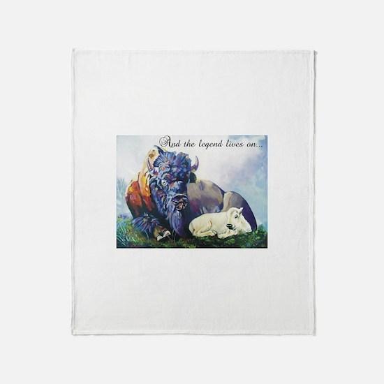 Kyle's White Buffalo Throw Blanket
