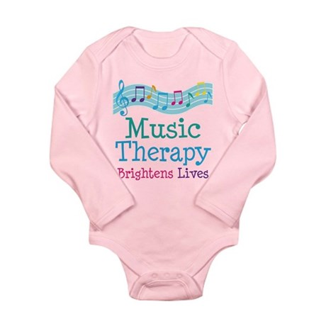 Music Therapy Colorful Long Sleeve Infant Bodysuit