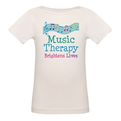 Music Therapy Colorful Organic Baby T-Shirt