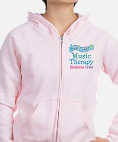 Music Therapy Colorful Zip Hoody