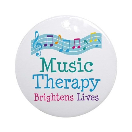 Music Therapy Colorful Ornament (Round)