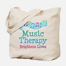 Music Therapy Colorful Tote Bag