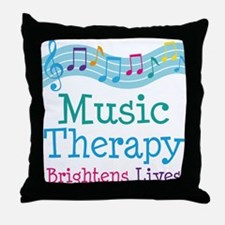 Music Therapy Colorful Throw Pillow