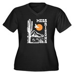 Mesa Arizona Women's Plus Size V-Neck Dark T-Shirt