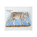 Canadian lynx Blankets