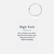 High Tech Definition Aluminum Photo Keychain