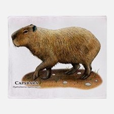 Capybara Throw Blanket