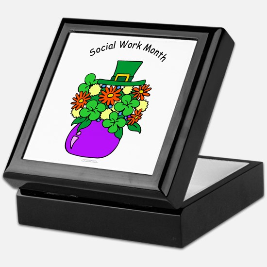 Social Work Month Vase Keepsake Box