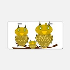 Family of Owls Aluminum License Plate