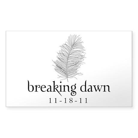 Twilight Breaking Dawn Feathe Sticker (Rectangle)