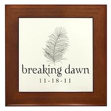 Twilight Breaking Dawn Feathe Framed Tile