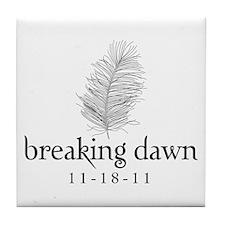 Twilight Breaking Dawn Feathe Tile Coaster