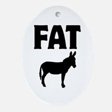Fat Ass (Donkey) Ornament (Oval)