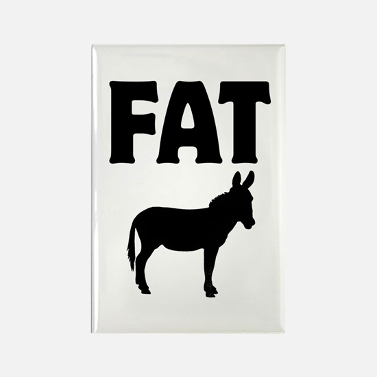 Fat Ass (Donkey) Rectangle Magnet (10 pack)