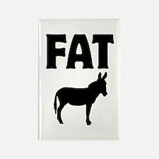 Fat Ass (Donkey) Rectangle Magnet