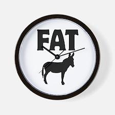 Fat Ass (Donkey) Wall Clock