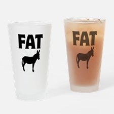 Fat Ass (Donkey) Drinking Glass
