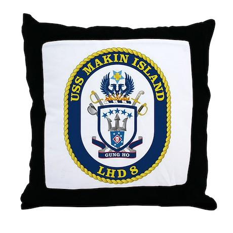 LHD 8 USS Makin Island Throw Pillow